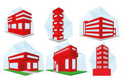 Set Of Different Building Icons Isolated Royalty Free Stock Images
