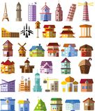 Set of different buildings,vector Stock Images