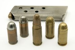 Set of different bullets Stock Photos