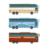 Set of different buses  Royalty Free Stock Photos