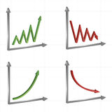 Set of different business graphs and charts Royalty Free Stock Photo