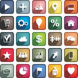 Set of different business icons. Vector Stock Photo