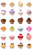 Set with different cakes. Set with different birthday cakes royalty free illustration