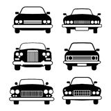 Set of different car symbols front view Royalty Free Stock Photography