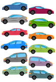 Set of different car types. Multicolored Cars Collection Stock Images