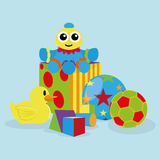Set Of Different Cartoon Toys Isolated Royalty Free Stock Photo