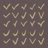 Set of 25 Different  Check Marks Stock Images