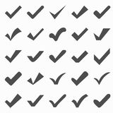 Set of different  check marks or ticks Stock Photography