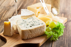 Set of different cheeses Stock Photography