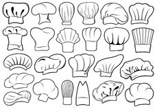 Set of different chef hats Stock Images