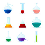 Set of different chemical icons Stock Photo