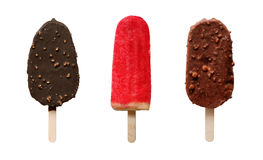 Set of different chocolate and fruit icecream Stock Image