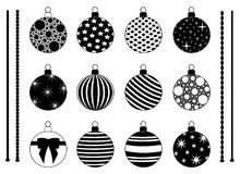 Set of different Christmas decorations. Isolated on white Stock Image