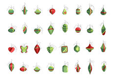 Set of different Christmas decorations isolated on Royalty Free Stock Images