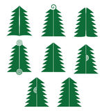 Set of different Christmas trees Stock Photography