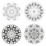 Set of different circular symmetric patterns Royalty Free Stock Photos