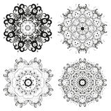 Set of different circular symmetric patterns. Stock Photography