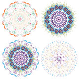 Set of different circular symmetric patterns Royalty Free Stock Photography