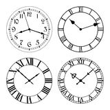 The set of different clock faces. Royalty Free Stock Images