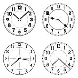 The set of different clock faces. Stock Image