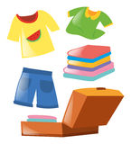 Set of different clothes Stock Photo