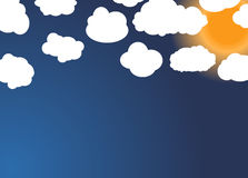 Set of different Cloud and Sun. Vector Illustration. EPS10 royalty free illustration