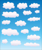 Set of different clouds Royalty Free Stock Photo