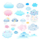 Set of different clouds Stock Images