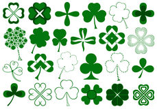 Set of different clovers set Royalty Free Stock Photos