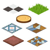 Set of different coatings for house and croft stock illustration