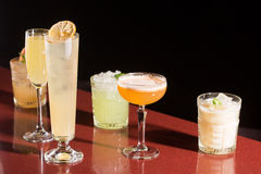 Set of different cocktails Stock Photos
