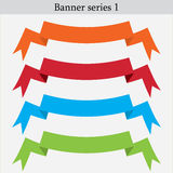 Set of different color banners vector design Stock Photography