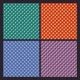 Set of different color brilliant textures Royalty Free Stock Photography