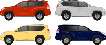 Set of different color car, realistic car models Stock Photo