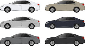 Set of different color car, realistic car models Stock Image