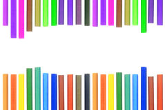 Set of different color pencils Royalty Free Stock Photos