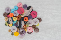 Set of different colored buttons Stock Images