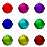 Set of different-colored Christmas balls Royalty Free Stock Photo