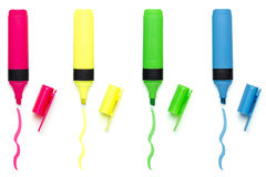 Set of different colored marker Royalty Free Stock Photos