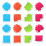 Set of different colorful stickers.  on Royalty Free Stock Image