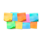 Set of different colorful sticky notes on white Royalty Free Stock Image