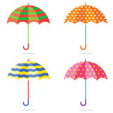 Set Of Different Colorful Umbrellas vector illustration