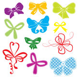 Set of different colors bows Stock Photography