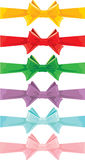 Set of different colors bows isolated Stock Image