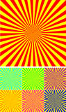 Set of different colour rays. Vector background Royalty Free Stock Photography