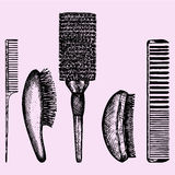 Set different combs Royalty Free Stock Images