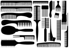 Set Of Different Combs Royalty Free Stock Photo