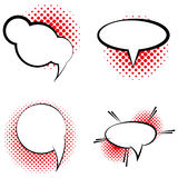 Set Of Different Comic Book Bubbles Isolated Stock Photo