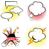 Set Of Different Comic Book Elements Isolated Royalty Free Stock Image