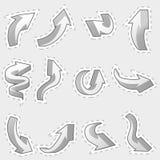 Set of different contour arrows Stock Images